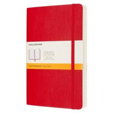 Moleskine Notebook, Expanded, Large, Ruled, Scarlet Red, Soft Cover (5 x 8.25)