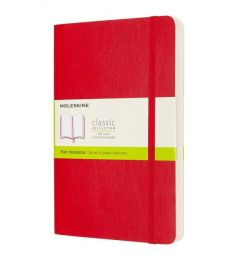 Moleskine Expanded Notebook, Large, Plain, Scarlet Red, Soft Cover (5 x 8.25)