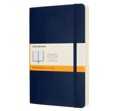 Moleskine Notebook, Expanded, Large, Ruled, Sapphire Blue, Soft Cover (5 x 8.25)