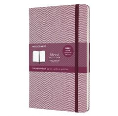 Moleskine Blend Limited Collection Notebook, Large, Dotted, Herringbone Purple (5 X 8.25)