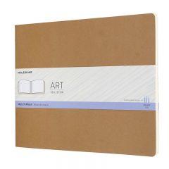 Moleskine Art Cahier, Sketch Album, XXL, Kraft Brown (11 x 8.5)