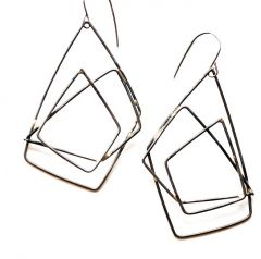 Layered Steel Earrings