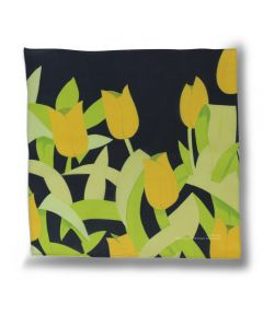 Tulips Handkerchief by Alex Katz