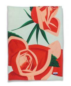 Red Rose Linen Tea Towel by Alex Katz