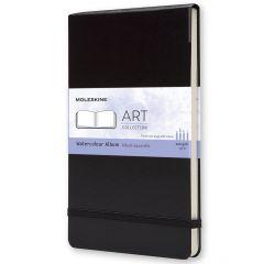 Moleskine Art Plus Watercolor Album, Large, Black, Hard Cover (5 x 8.25)