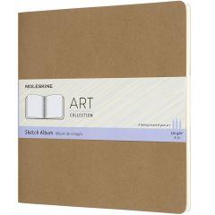 Moleskine Art Cahier, Sketch Album, Square, Kraft Brown (7.5 x 7.5)