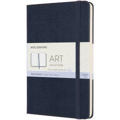 Moleskine Art Sketchbook, Medium, Sapphire Blue (4.5 x 7)