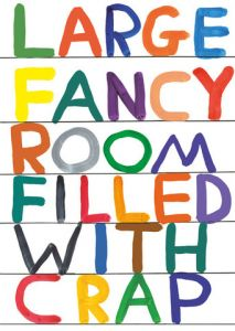 Tea Towel - Fancy Room by David Shrigley