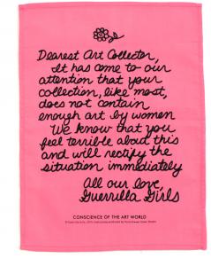Dear Art Collector Handkerchief by Guerrilla Girls