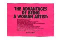Advantages of Being a Woman Artist Tea Towel X Guerrilla Girls