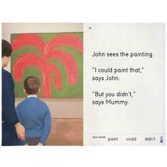 John Sees The Painting Tea Towel