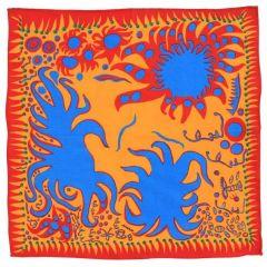 Joy I Feel When Love Has Blossomed Handkerchief by Yayoi Kusama