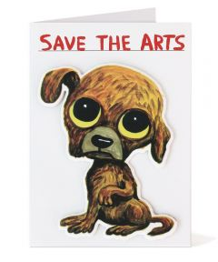 Save The Arts Puffy Sticker Card