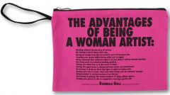 Advantages of Being a Woman Artist Clutch by Guerrilla Girls