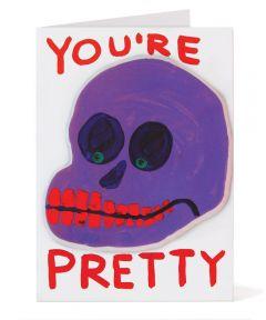 You're Pretty Puffy Sticker Card