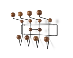 Eames Hang-It-All - Walnut Spheres Black Frame