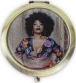 Bronze Purse Mirror by Mickalene Thomas